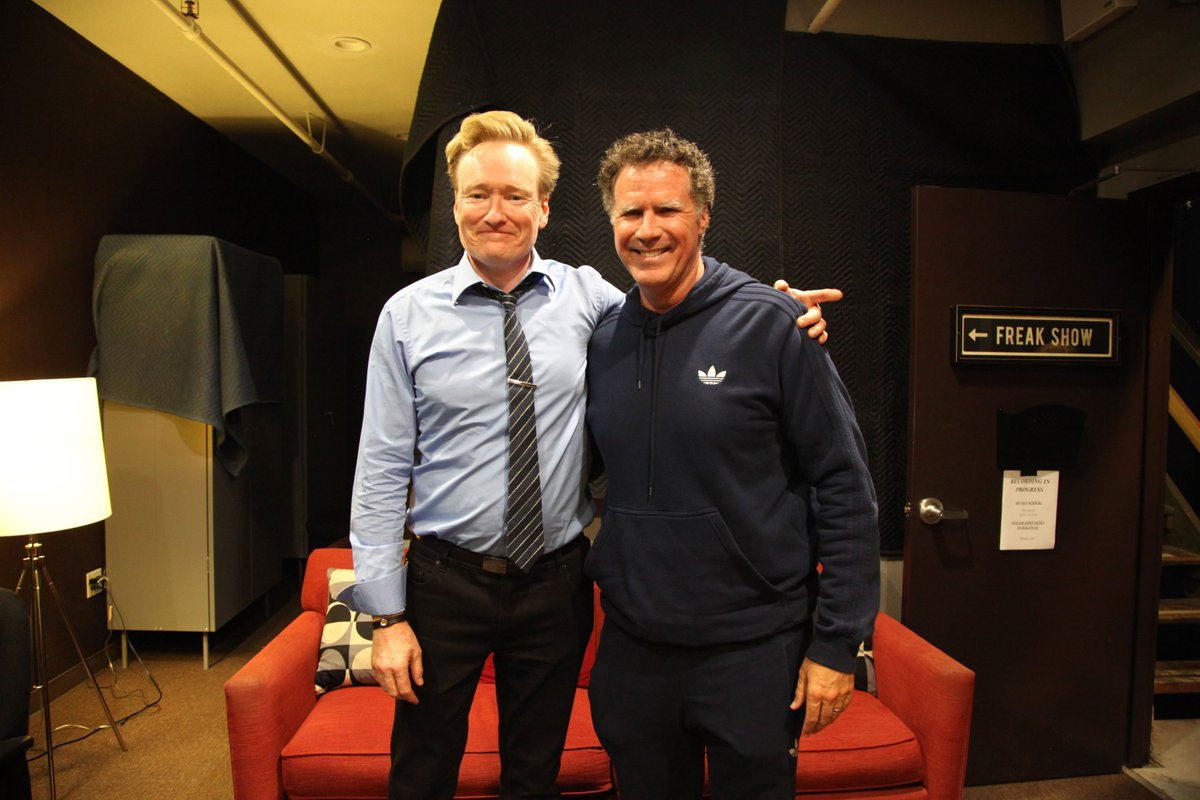 Will Ferrell sat down for the premiere episode of my new podcast. If you like Will Ferrell and Conan O'Brien but hate our faces, check it out! https://t.co/9Po0LyTBd1