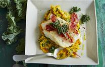 Cod with Kale, Pumpkin Mash and Horseradish Sour Cream   More here : https://t.co/s3NRBcUc7T #Recipes https://t.co/HWNQOMzbjh