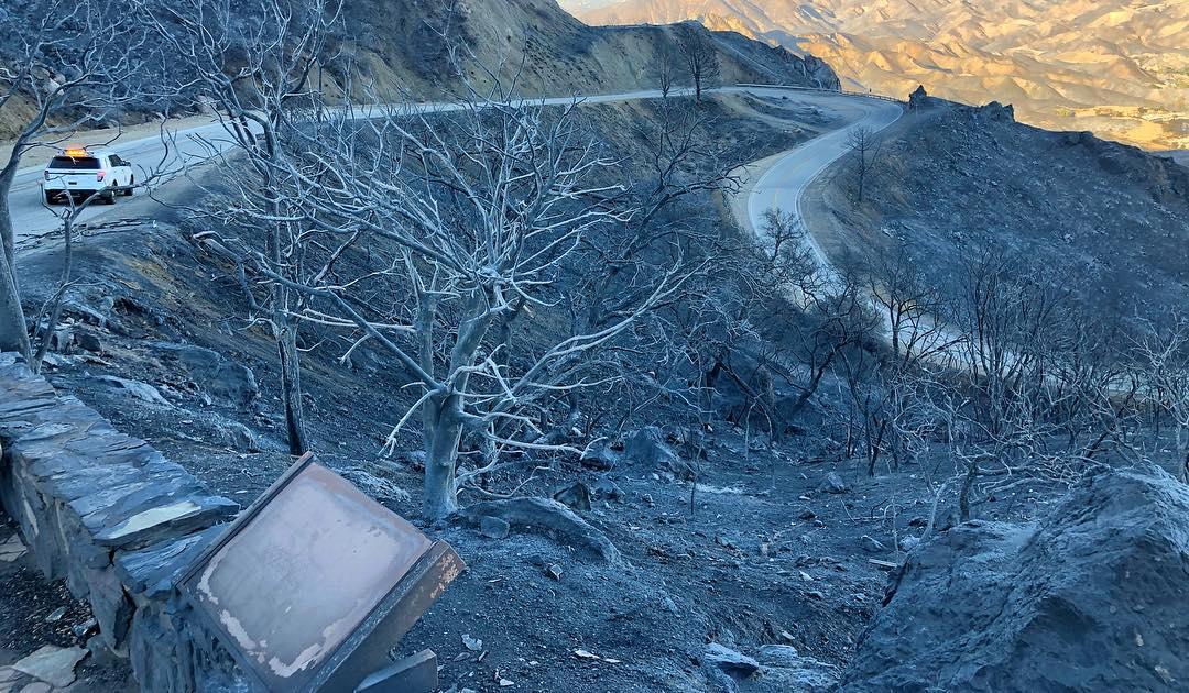 California's fires have burned Mulholland Highway almost beyond recognition https://t.co/GHJcSEk8JC