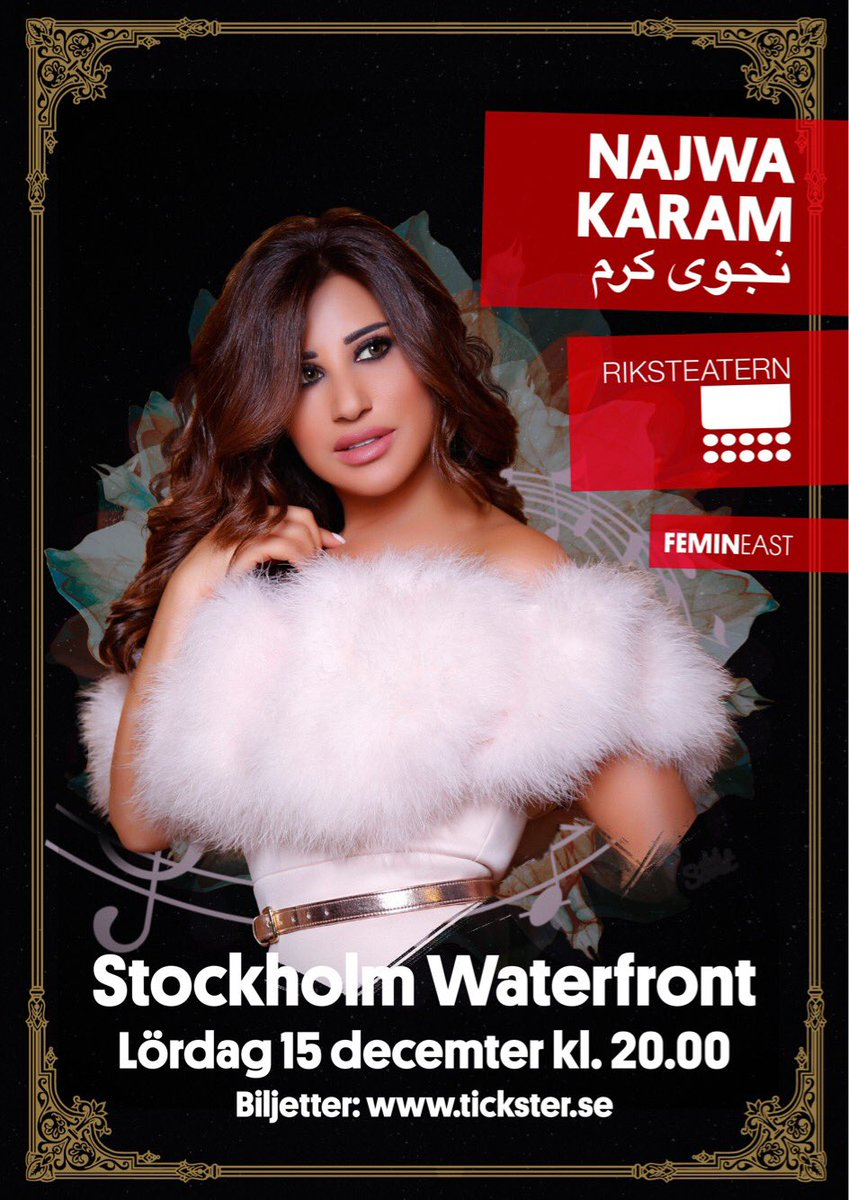 #NKO Najwa Karam will perform in Stockholm on December 15th. Book your tickets now! https://t.co/7pm0iYQTtH