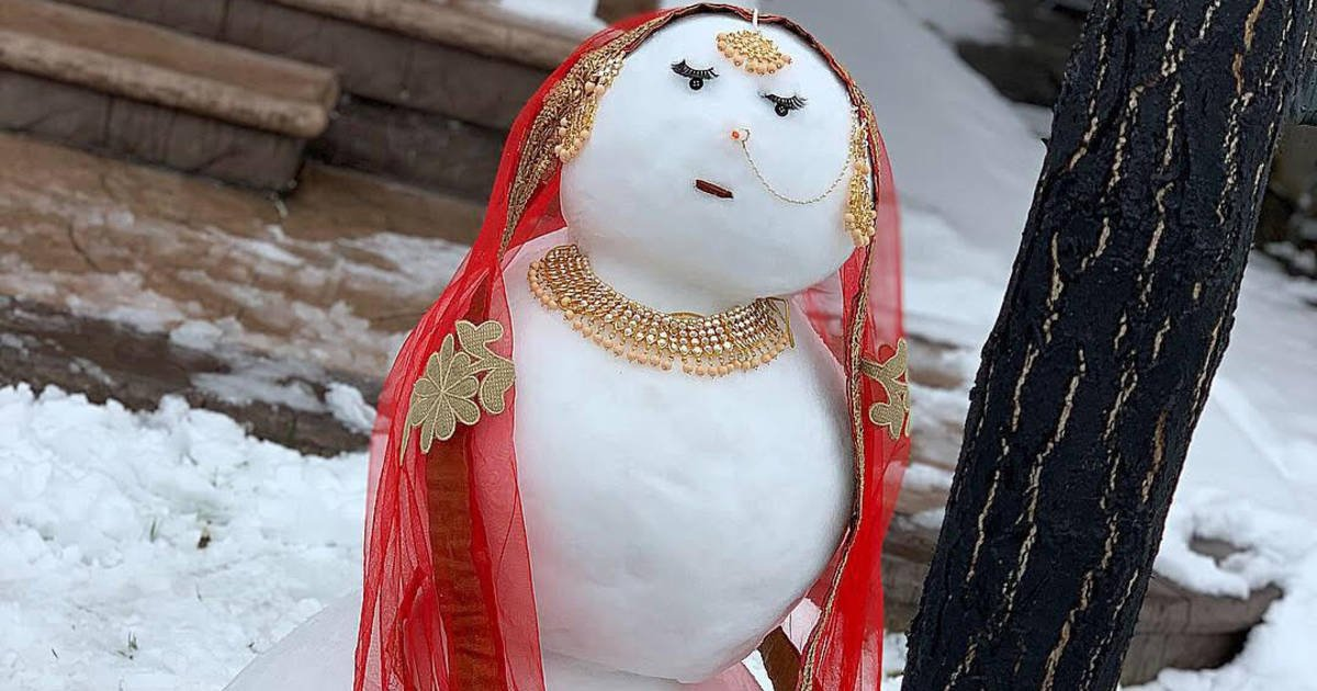 This stunning #Brampton snow woman has been tearing up the internet https://t.co/NtEB9UfxgX