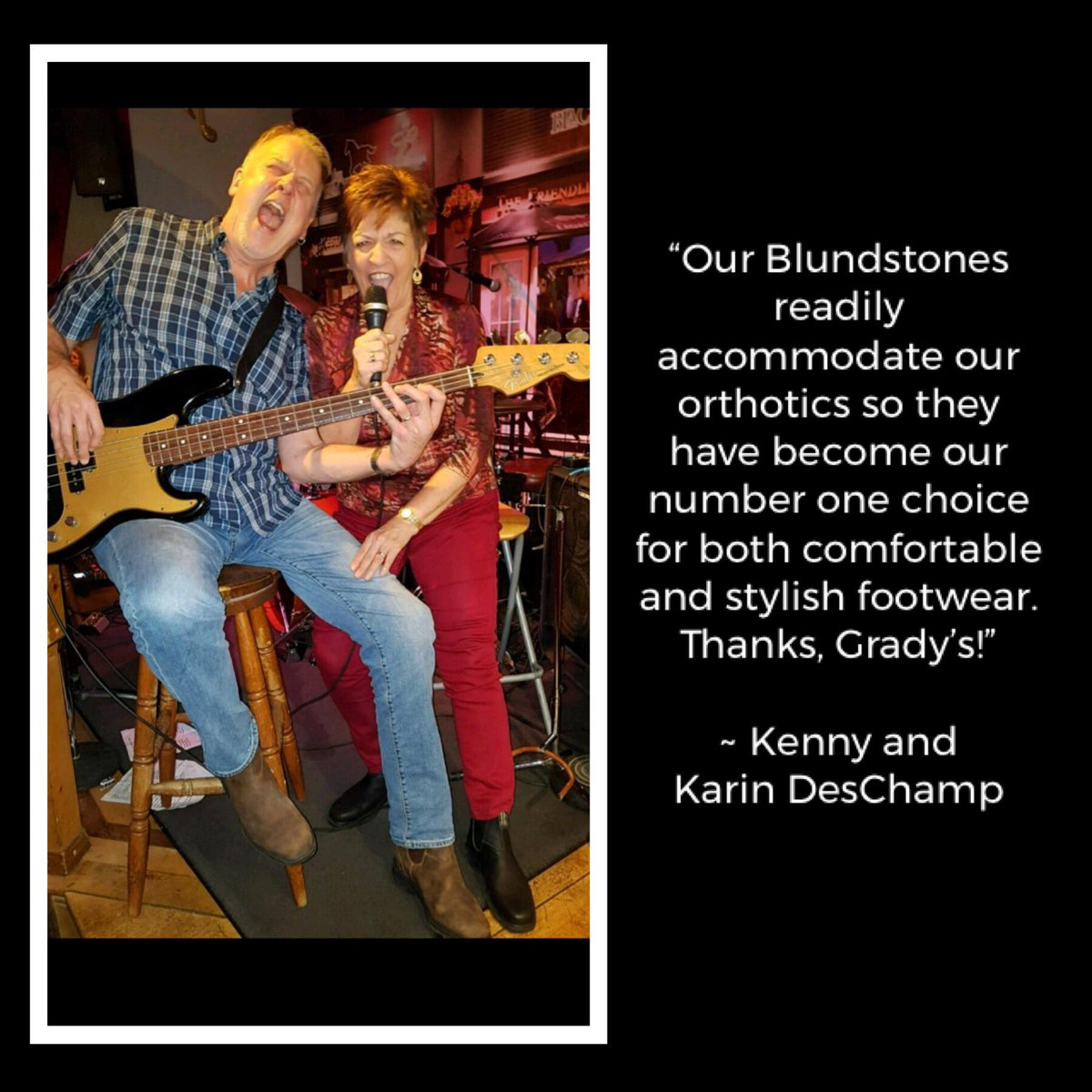test Twitter Media - Kenny & Karin know what they are talking about! #Blundstone boots look great AND can accommodate #orthotics 👍😀  📸 Photo credit: Mark Beatty #gradyphotocontest #Blundstone @blundstoneca #orthoticfriendlyfootwear @LansdownePlace #ptbo https://t.co/YUlQuU3Ub0