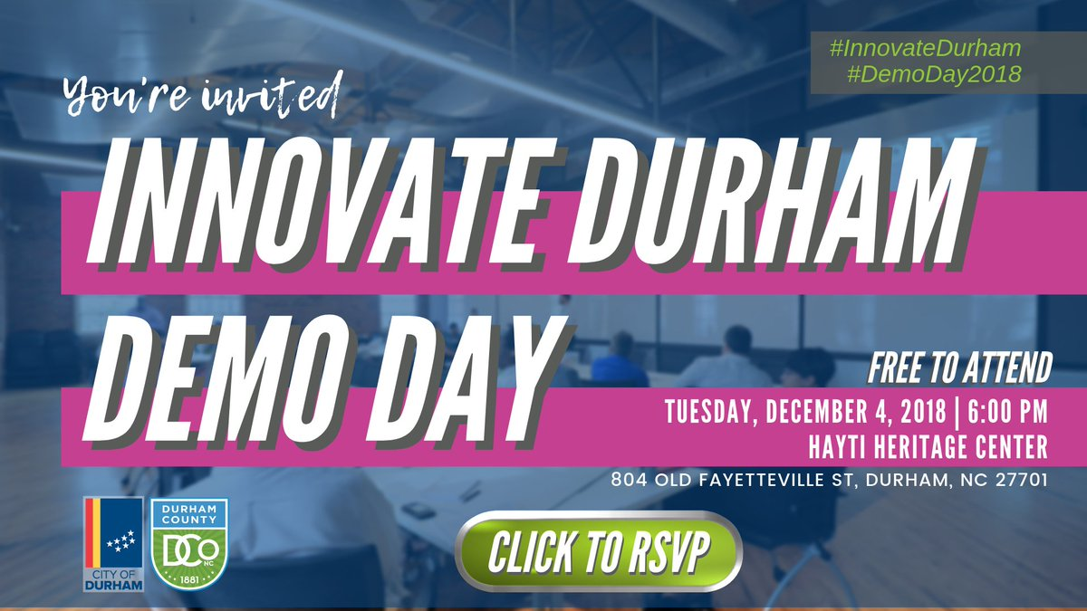 Cityofdurhamnc On Twitter We Re Celebrating Our Innovatedurham
