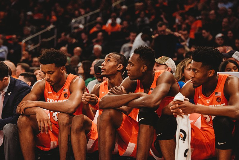 Syracuse basketball falls out of the AP Top 25 after two losses at MSG