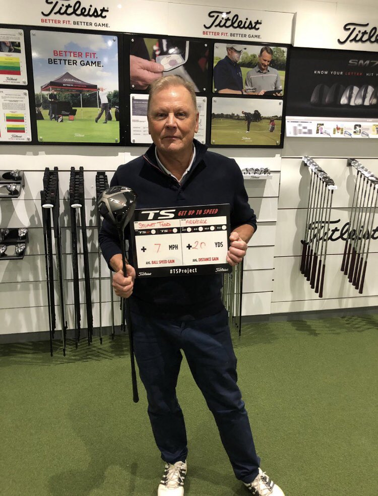 Another happy customer with his new TS driver, enjoy it Stuart 😊👍🏼🏌🏼‍♂️⛳️#TSproject #titleist #morespeed #moredistance #averagenumbers #golf #abergele