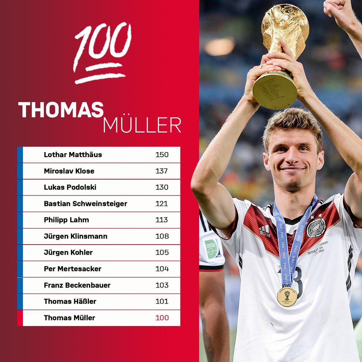 💯 Länderspiele für 🇩🇪!  Willkommen im Club, @esmuellert_! 🙌  #GERNED @DFB_Team #MiaSanMia