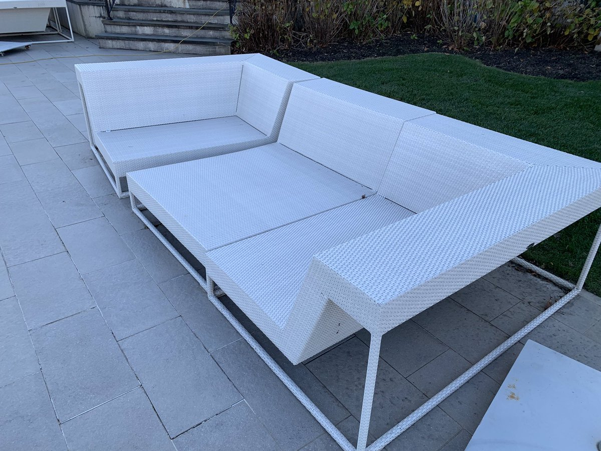 Wrapped and ready for winter http njshrinkwrapping com winter beforeandafter shrinkwrap outdoorfurniture furniture protection investment weather