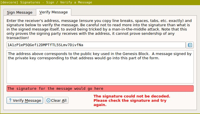 check signature line message