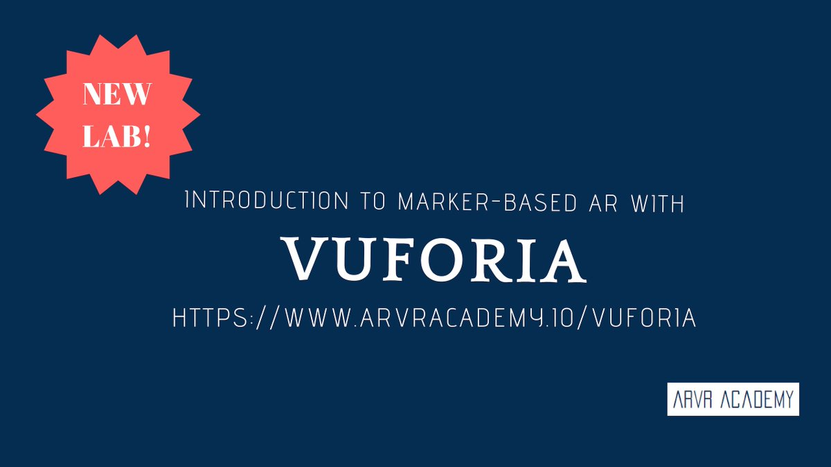 Were sharing a new tutorial today!🎉 If youve wanted to dip into marker-based #AR creation, weve got you covered with a @Vuforia and @unity3d lab and sample project! 💻 Check it out: arvracademy.io/vuforia