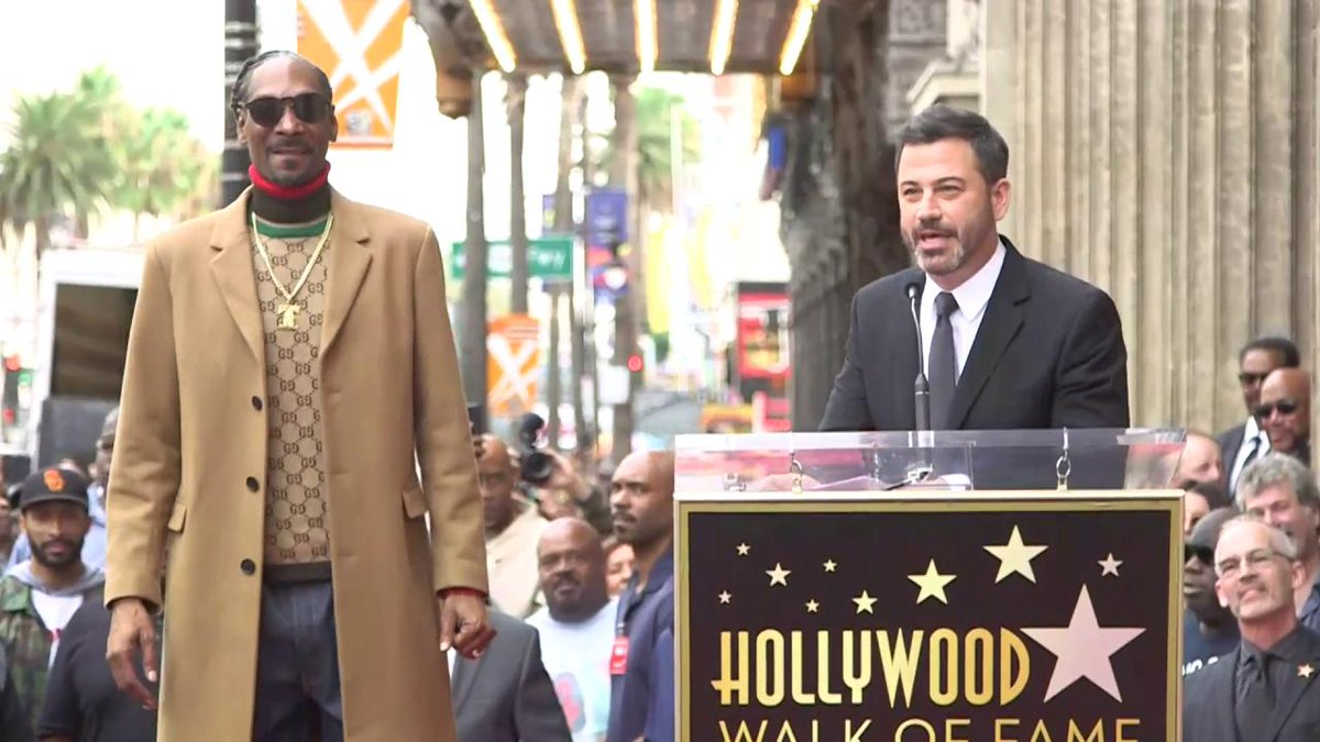 congratulations to my old pal @SnoopDogg on his star on the Hollywood Walk of Fizzame