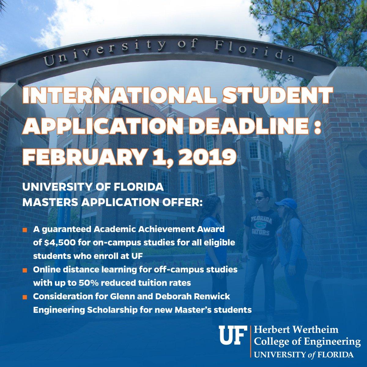 Uf Application Deadline >> Uf Cise On Twitter The Deadline For International Students