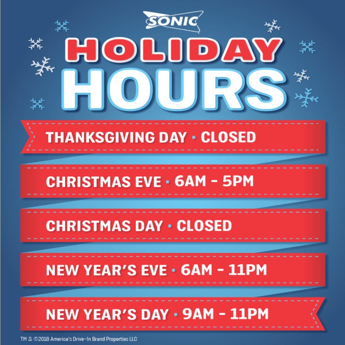 Sonic Christmas Hours.Sonic Of Phoenix Sonicofphoenix Twitter