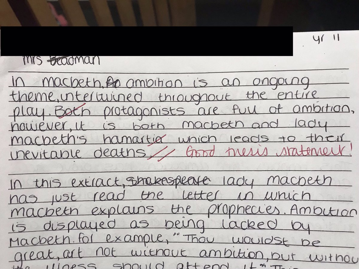 """Hanham English Dept On Twitter: """"Thrilled That The Thesis Statement  Technique Has Produced Some Strong PPE Literature Essays. 👍 Well Done  Y11!… """""""