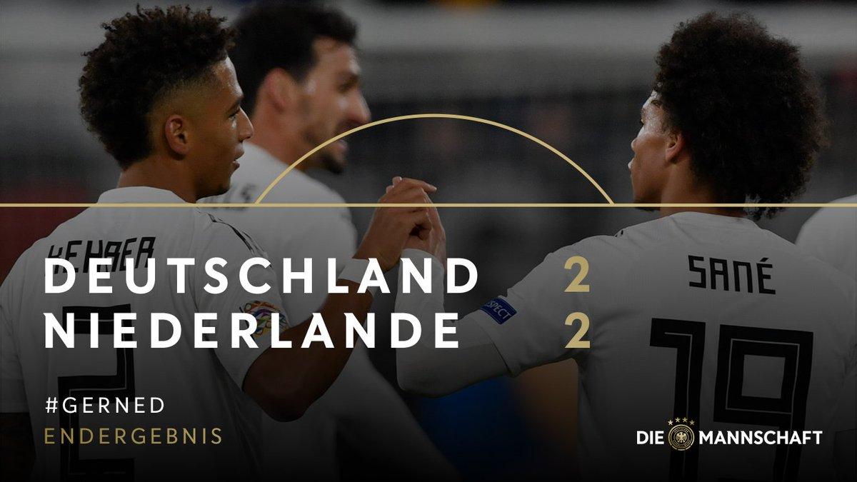 Guter Auftritt zum Ausklang des Länderspieljahres - und den Sieg doch knapp verpasst. Deutschland kassiert gegen die Niederlande das 2:2 in der Nachspielzeit. #DieMannschaft #GERNED