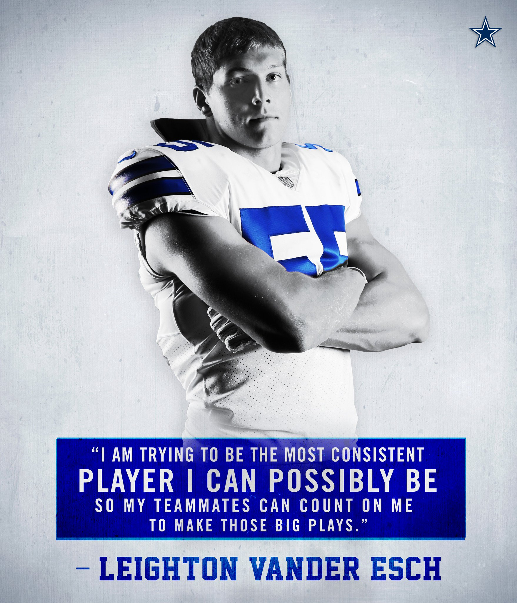 Focused on consistency.  @VanderEsch38 | #DallasCowboys https://t.co/MWfeod1G0T