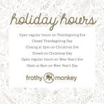 Image for the Tweet beginning: {Holiday Hours} Open regular hours on