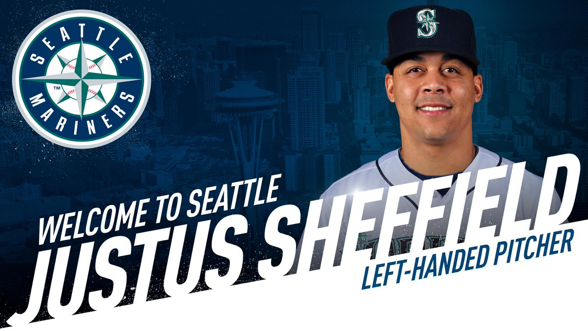 #Mariners acquire LHP Justus Sheffield, RHP Erik Swanson and CF Dom Thompson-Williams from New York-AL in exchange for LHP James Paxton. Read: atmlb.com/2zhcHz3