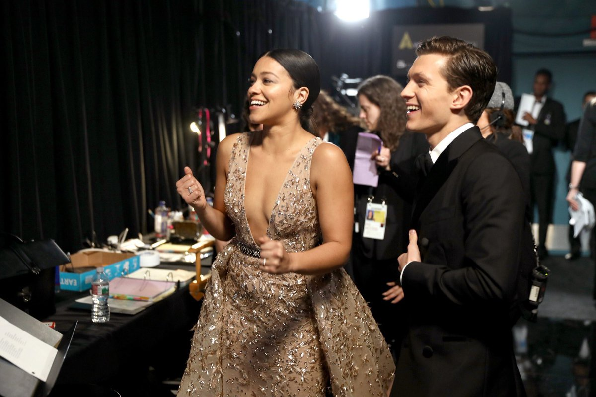 I think about this photo of Gina Rodriguez and Tom Holland a lot and you should too.