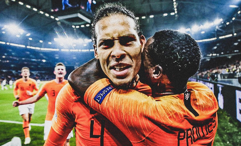 🇳🇱 @OnsOranje needed a hero....  🤩....step forward @VirgilvDijk.