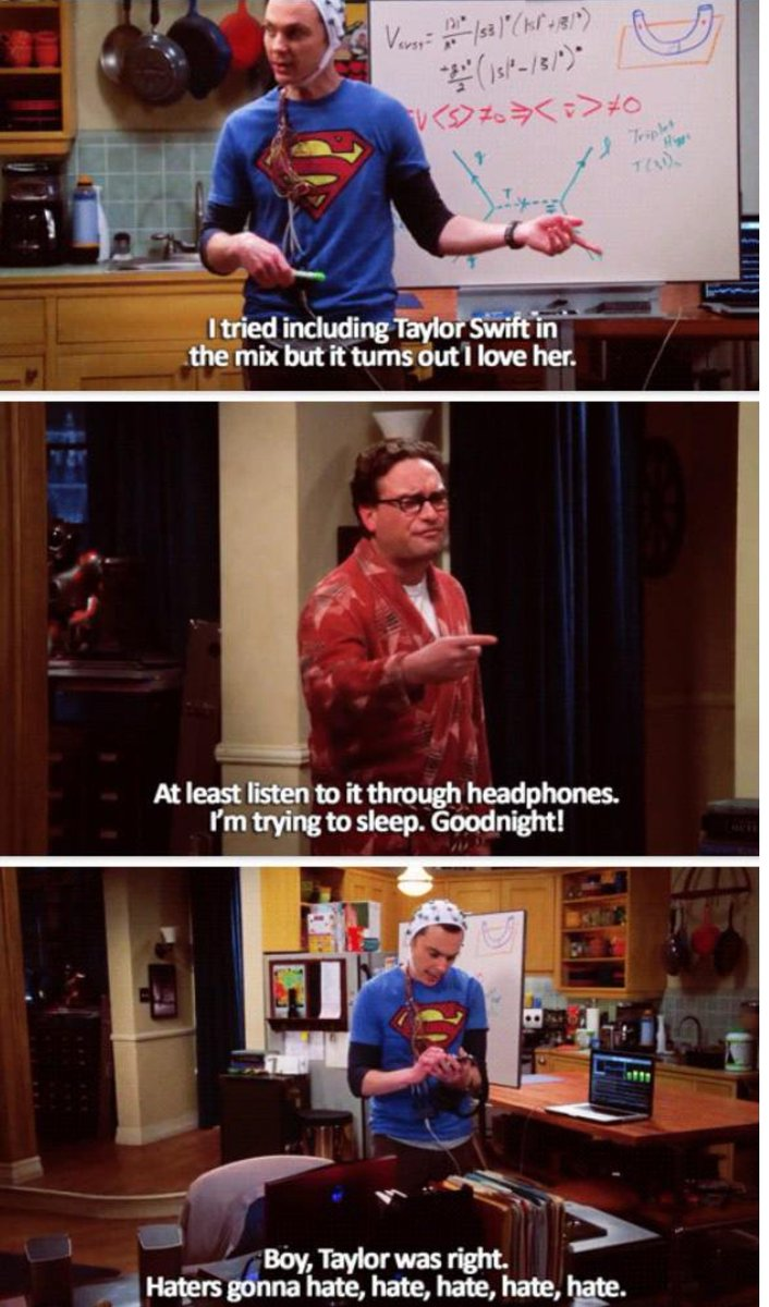 #ARIAsTaylorSwift Even Sheldon Cooper is a swiftie. #TheBigBangTheory