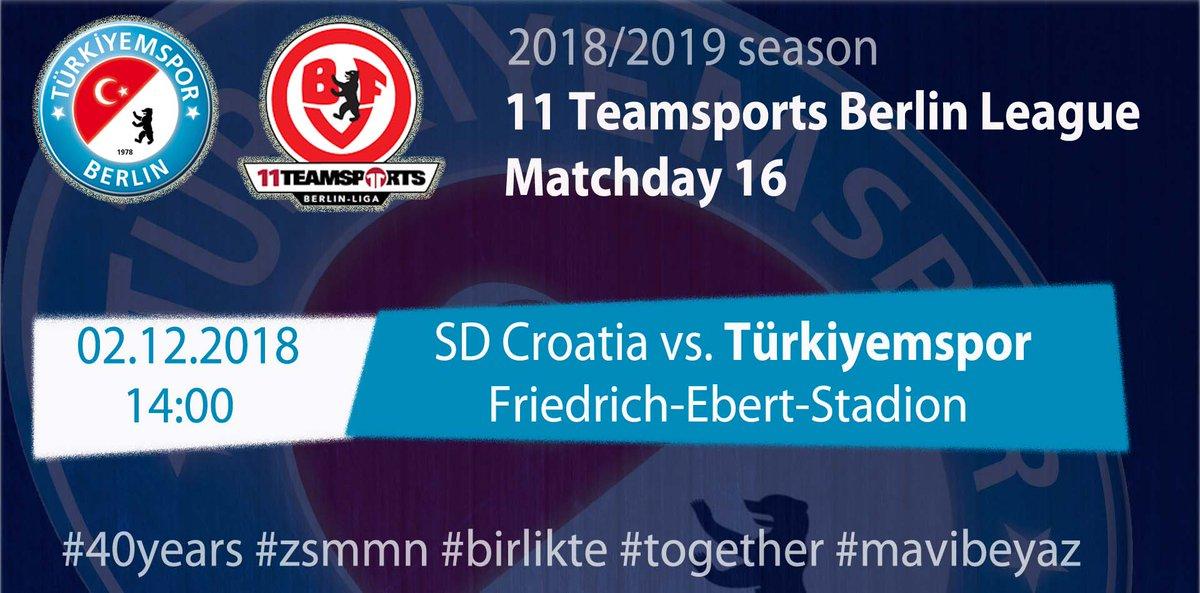 Turkiyemspor Berlin On Twitter Pazargunumacvar Matchday