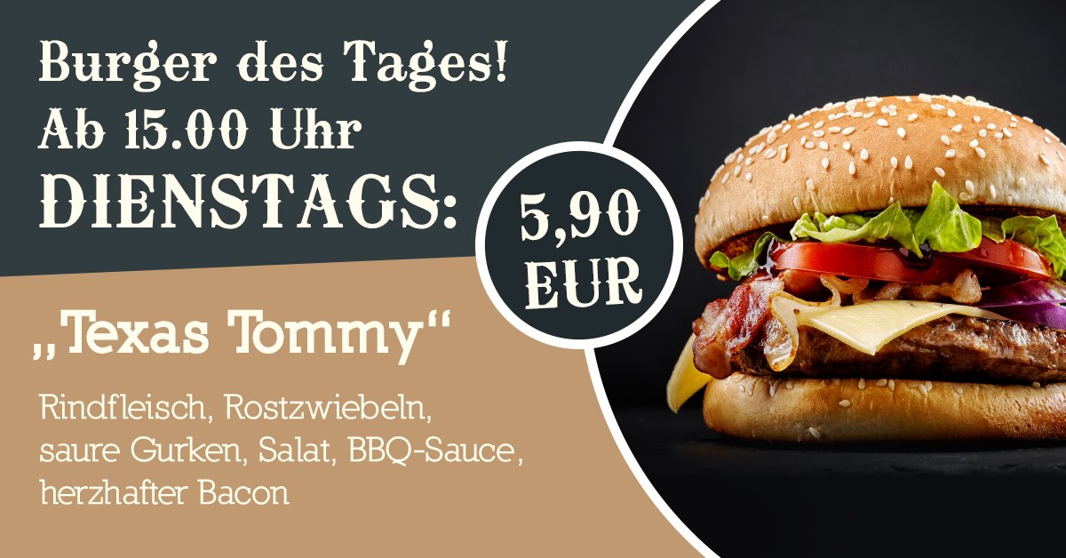 . Mississippi Bochum on Twitter   Burger des Tages  Chicken Charly