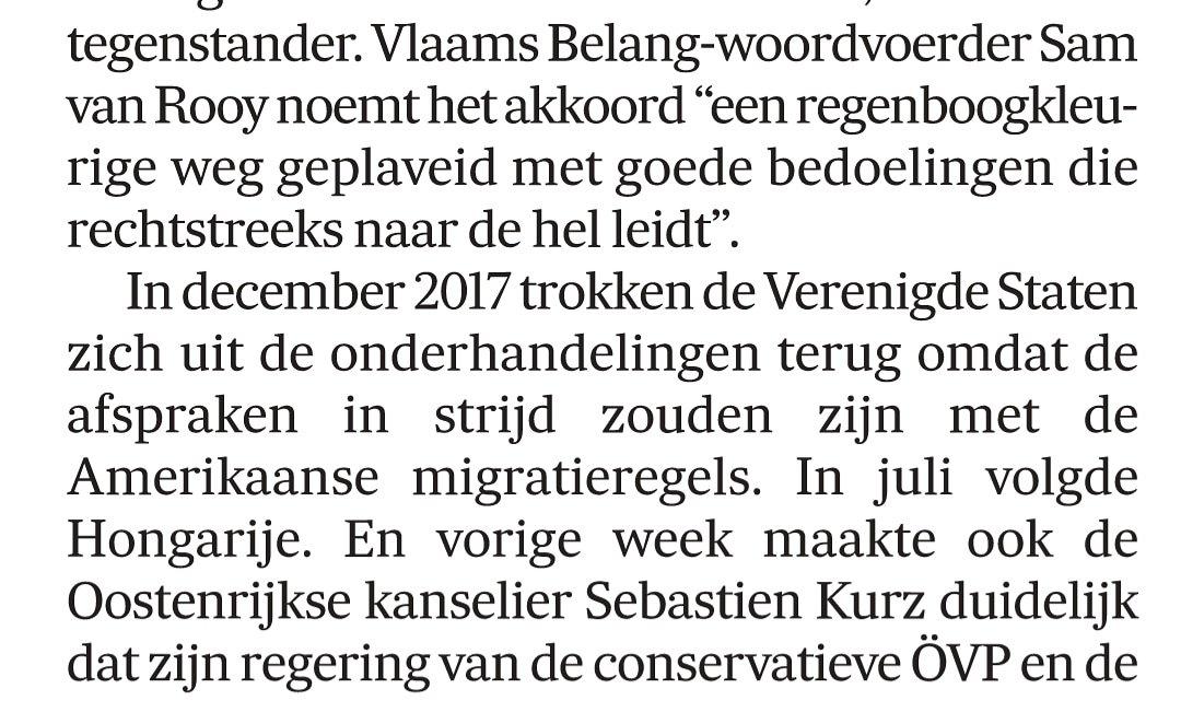 Sam Van Rooy On Twitter In De Morgen Over Het