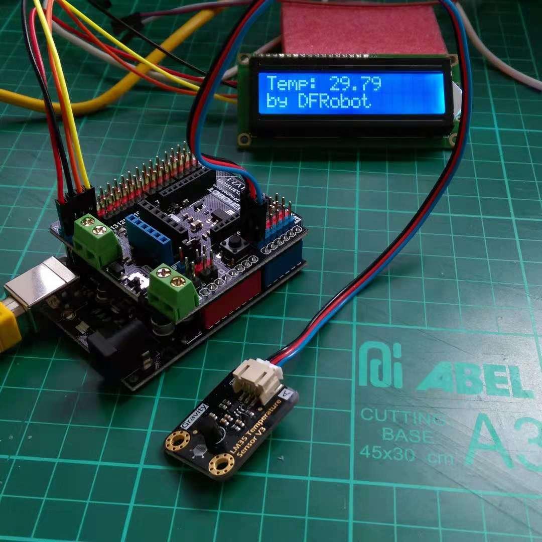 Analog LM35 Temperature Sensor For Arduino Gravity