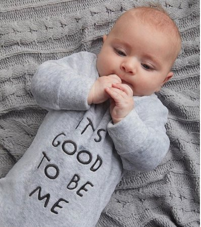 I love a baby with confidence.