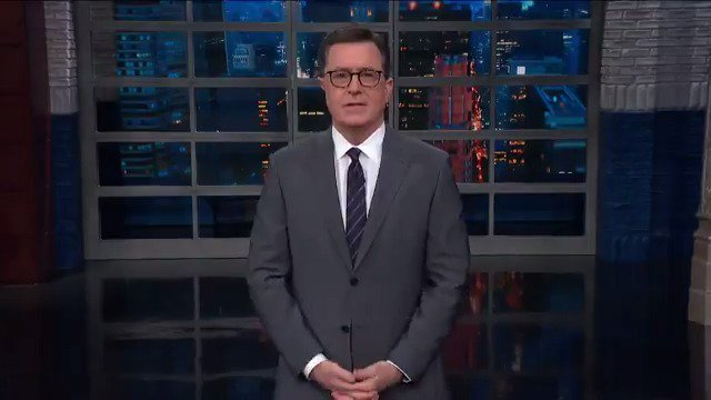 Stephen Colbert Ends 10 Seconds Of Stunned Silence With A Blistering Response To Trump