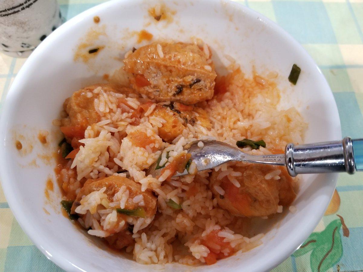 Tomato braised Stuffed Tofu and Rice #food #yum #hanasfood https://t.co/L6Xlw8hBxE