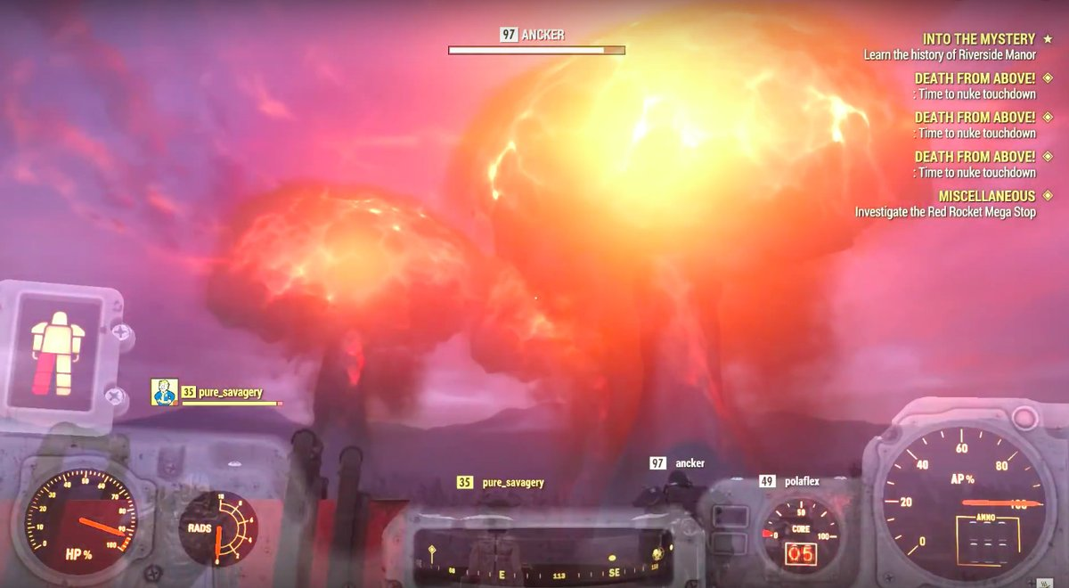 Fallout 76 players launched so many nukes at once that they crashed a server https://t.co/QcKHHAAE0b