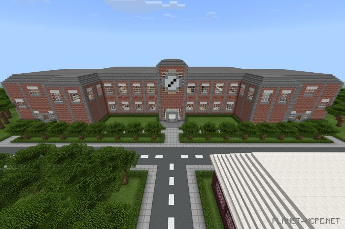 карта школы на майнкрафт #9