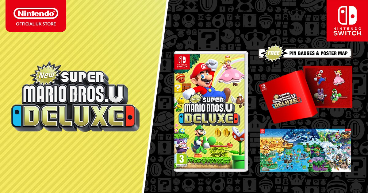 Nintendo Uk Auf Twitter New Super Mario Bros U Deluxe Comes Down The Pipe On Nintendoswitch On January 11th If