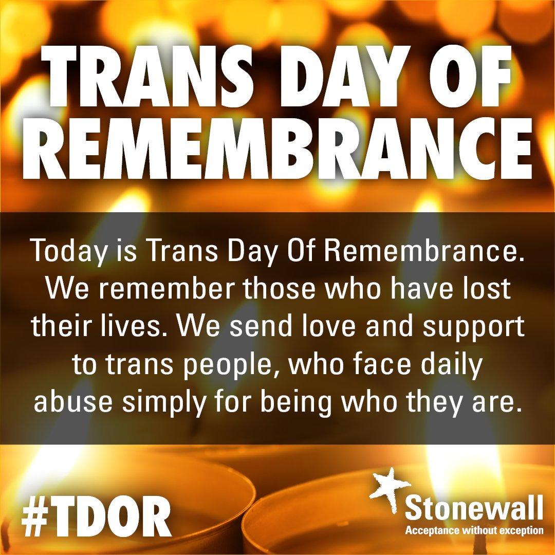 Stonewall's photo on #TransDayOfRemembrance