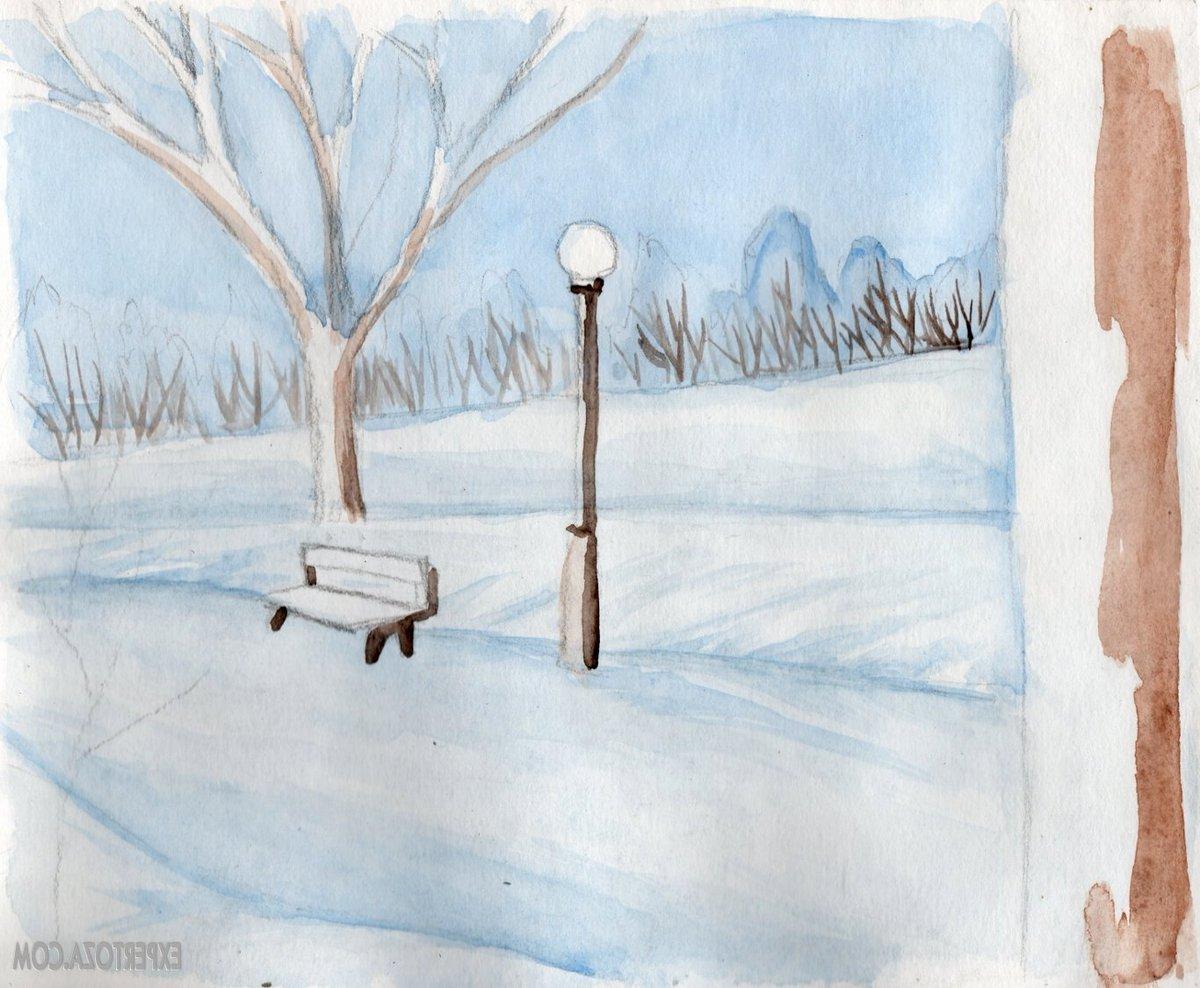 Картинки как нарисовать зиму карандашом