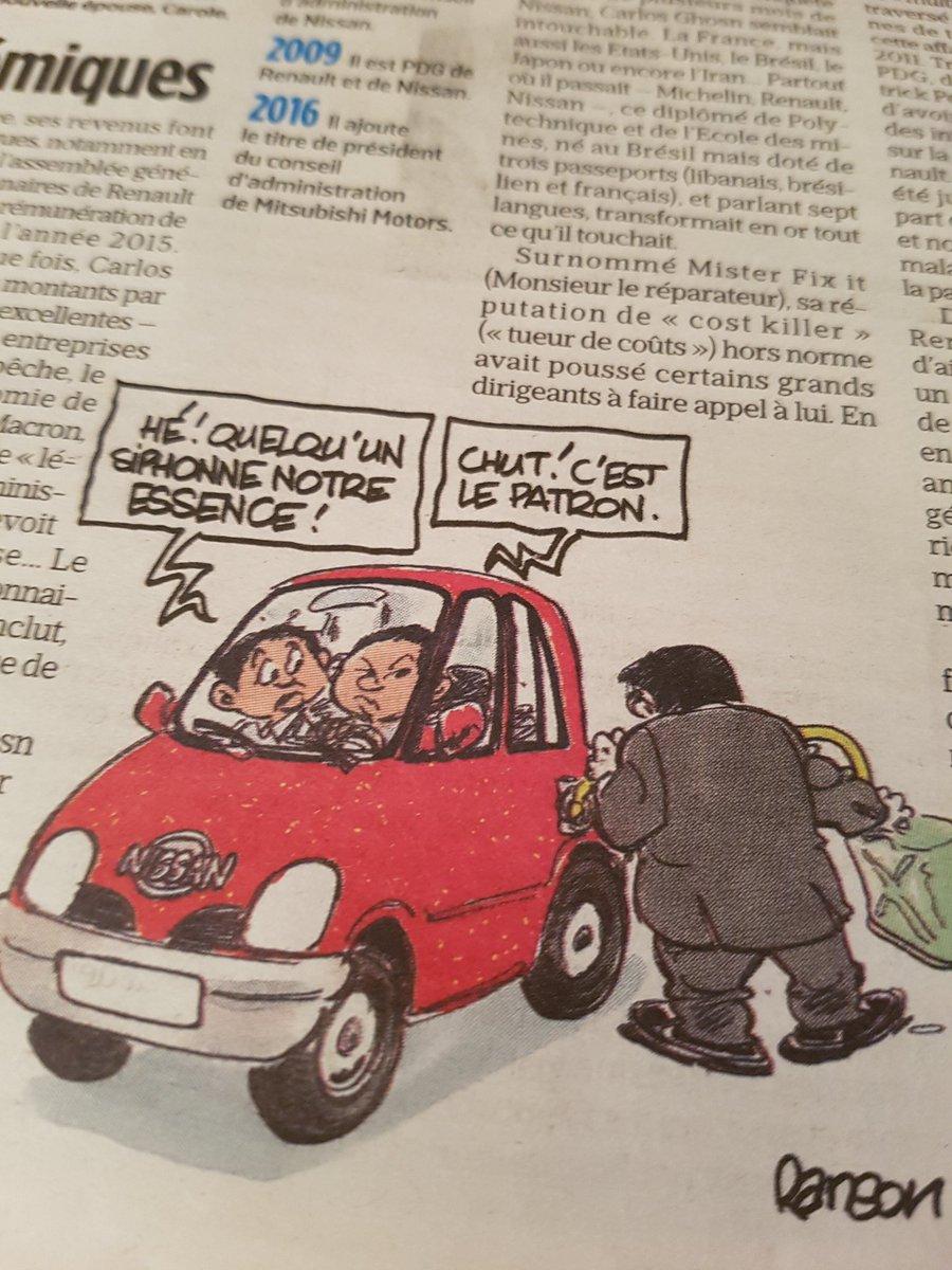 Le Renson du jour dans 'Aujourd'hui en France / Le Parisien' #Ghosn avec, sans le dire, un peu de #GiletsJaunes