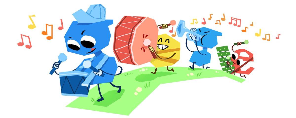 🎶 ¡Nuestro #GoogleDoodle se llena de color y música para celebrar el #DíaUniversalDelNiño! 🎶