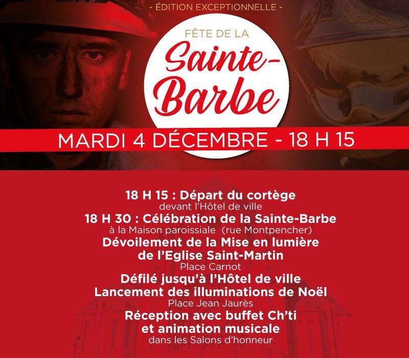 Une Sainte-Barbe exceptionnelle attend les Héninois et Beaumontois dans deux semaines.   Cochez la date du mardi 4 décembre dans votre agenda et partagez le programme ⤵️