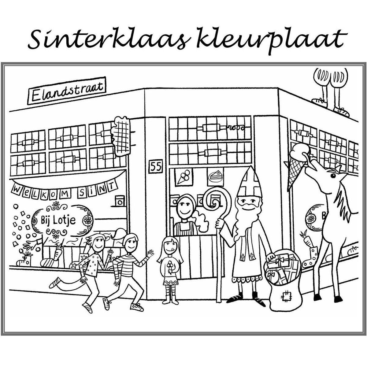 Kleurplaten Schoen Voor Sinterklaas.Bij Lotje On Twitter De Sint Is Weer In Het Land En We