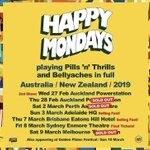 Image for the Tweet beginning: 🚨Happy Mondays AUSTRALIA & NZ