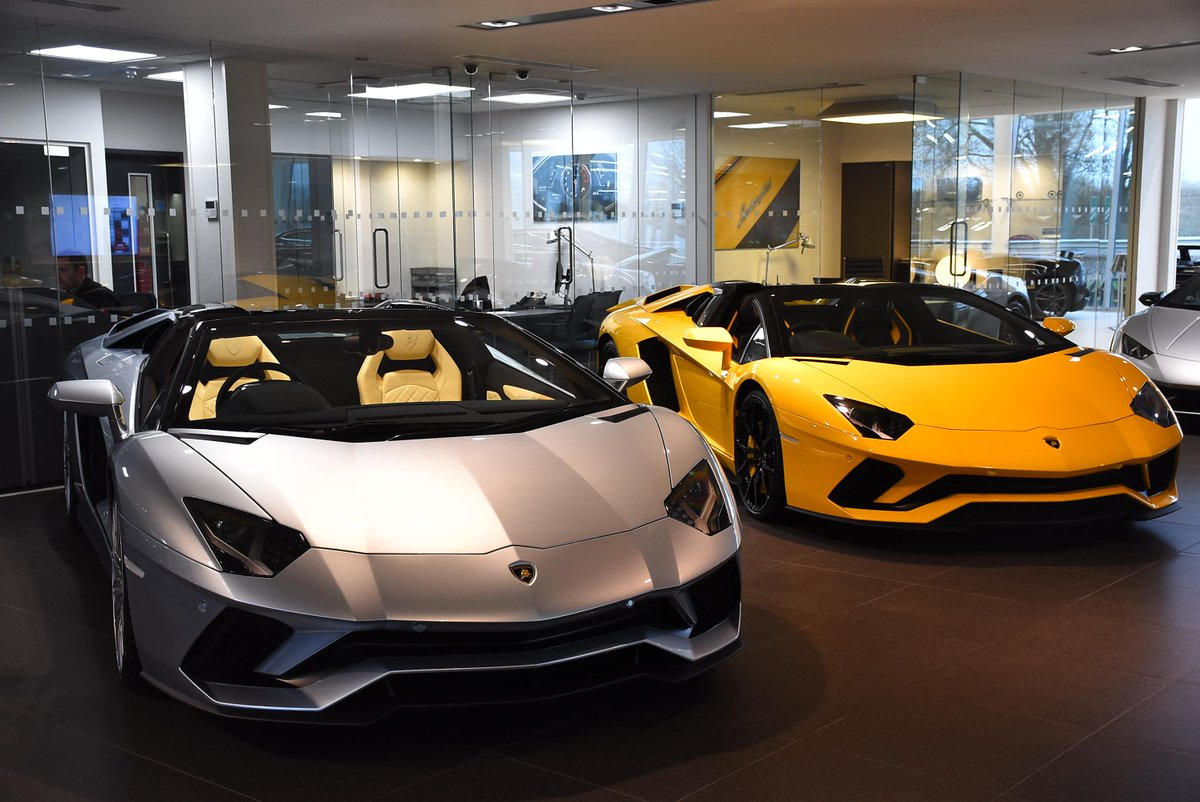Lamborghini On Twitter Beautiful Aventador S Roadsters In The Showroom Lamborghinileciester Lamborghini Aventador Roadster
