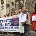 Image for the Tweet beginning: #Justice4NHS Day1 of Appeal against