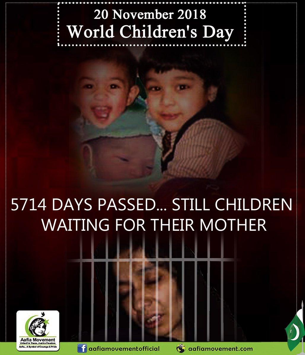 #FreeAafia #WorldChildrensDay