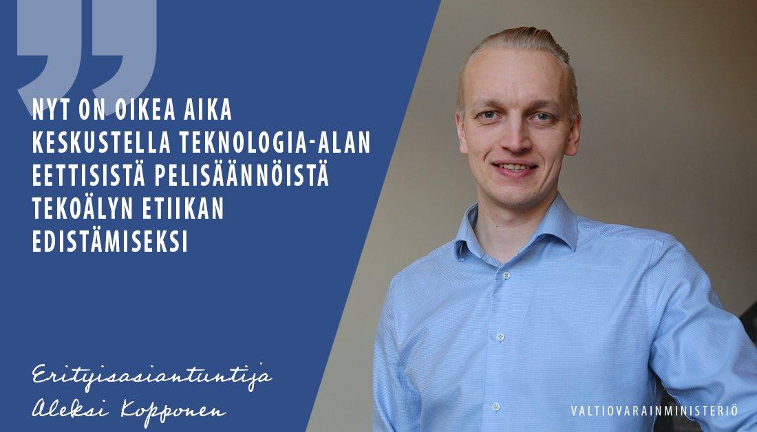 """""""Tämä on merkittävä mahdollisuus Suomelle olla mukana määrittämässä kansainvälisessä mittakaavassa vastuullisia ja reiluja käytäntöjä tekoälyn soveltamiseen"""" @Kopponen 👌🏻 #tekoäly #AI #AuroraAI #Suomi #etiikka #luottamus #tekoälyaika"""