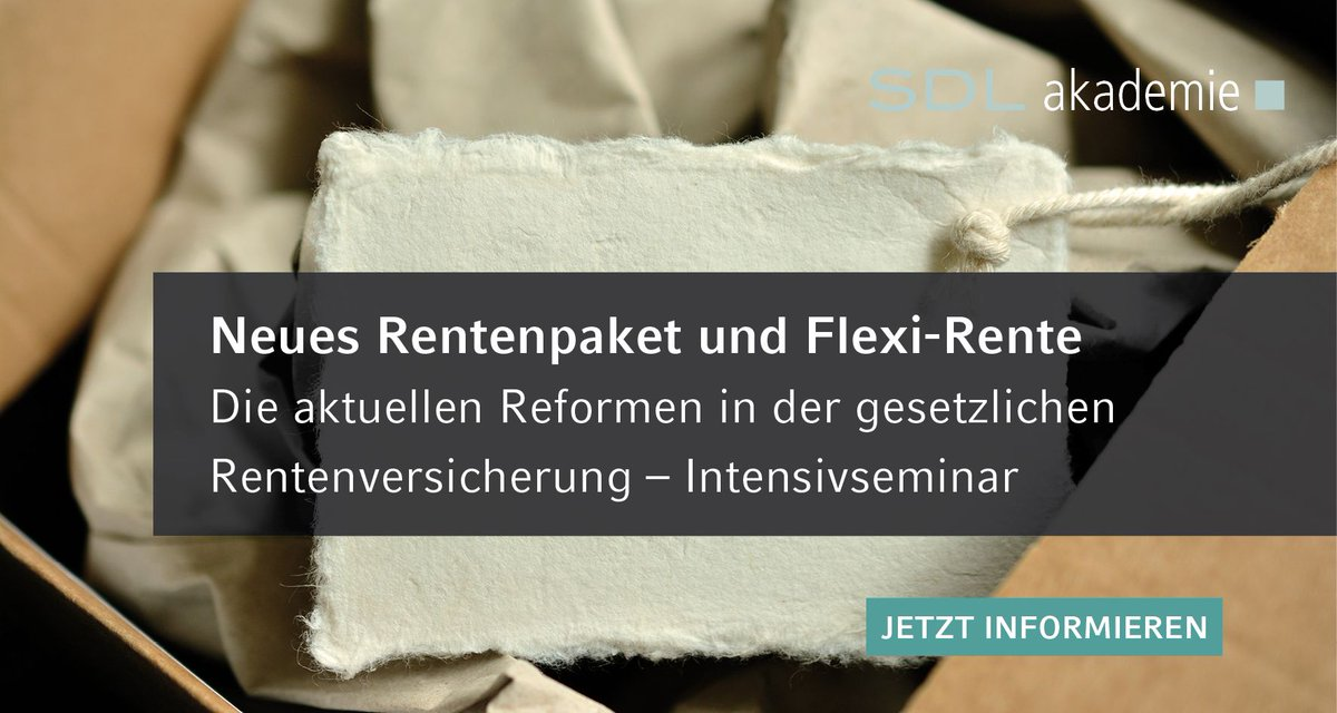 #Rentenpaket Latest News Trends Updates Images - SDLakademie