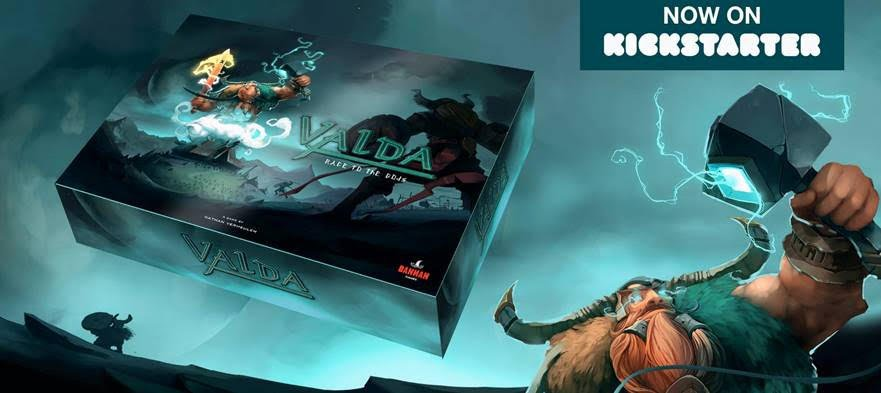 Valda — Race to the gods. Live on Kickstarter, please go check it out!!!  https://www.kickstarter.com/projects/bannan/valda-race-to-the-gods-a-boardgame-by-nathan-verme…  #Kickstarter #indiedev #gamedev #boardgame