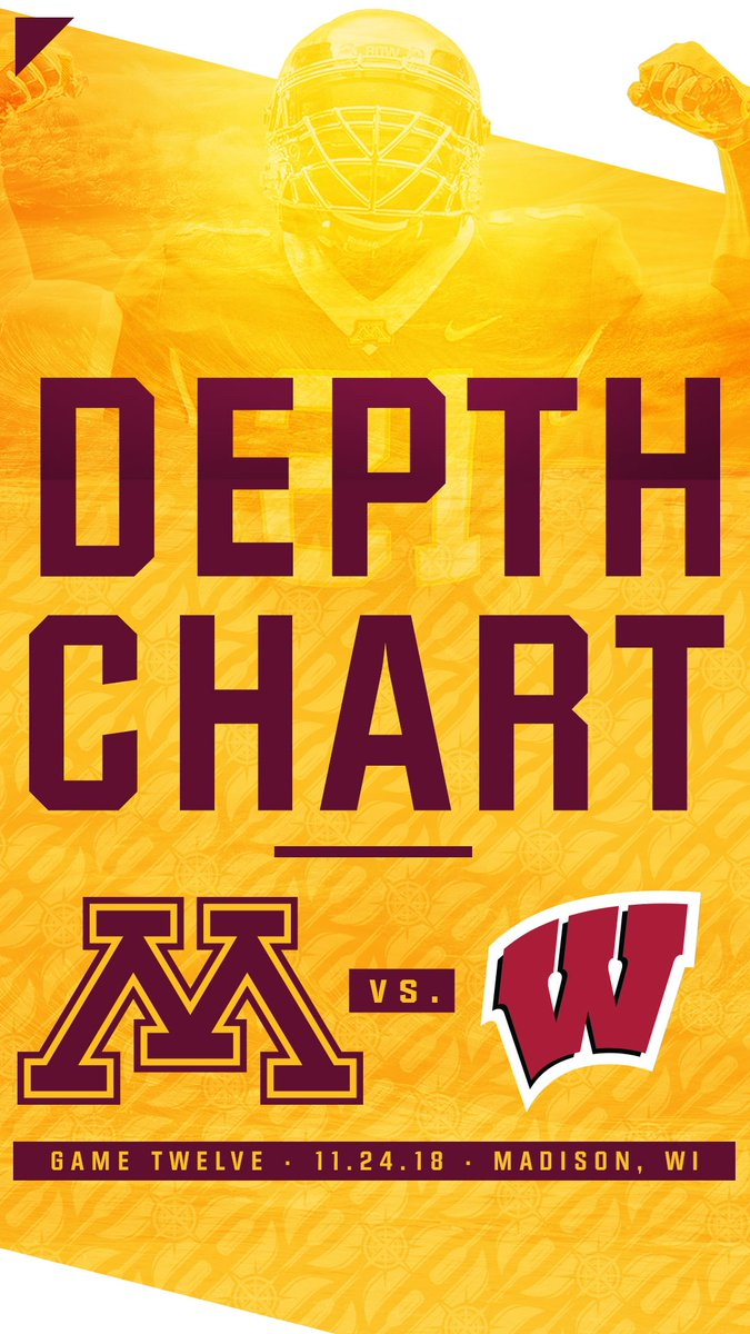 Gophers Announce Depth Chart For Saay S Border Battle At Wisconsin Https Z Umn Edu 18fbnotes Skiumah Rtbpic Twitter 3qluhretx1