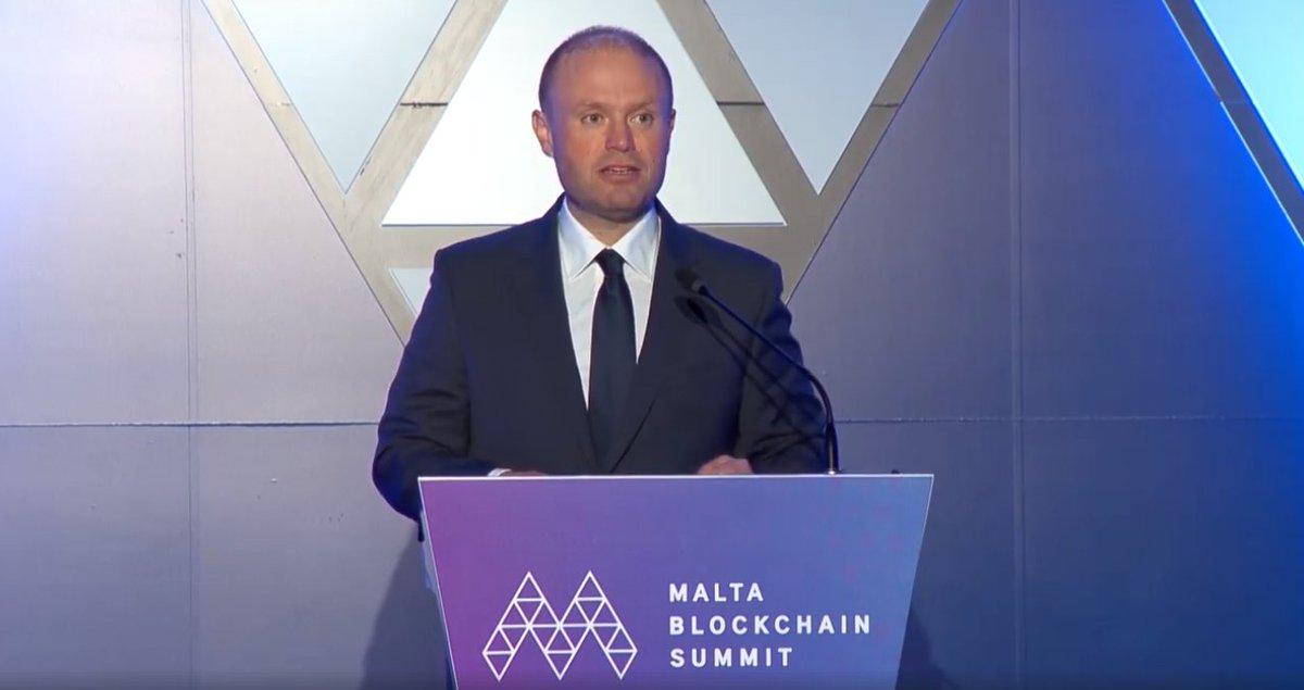 Joseph Muscat at the Malta Blockchcain Summit