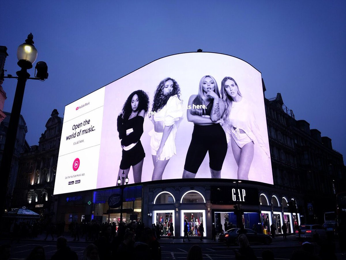 Insane! The love and support has been so incredible! Thank you thank you @YouTubeMusic ♥️ Did you spot us taking over Piccadilly Circus?! #LM5 #STRIP Listen to LM5 on @YouTubeMusic 💃🏻 smarturl.it/LM5YouTubeMusic